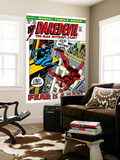 Daredevil No.100 Cover: Daredevil and Black Widow Wall Mural by Gene Colan