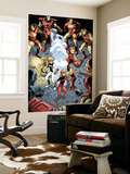 Iron Man And Power Pack No.3 Group: Zero-G, Lightspeed and Iron Man Wall Mural by Marcelo Dichiara