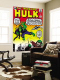 Incredible Hulk No.3 Cover: Hulk, Jones and Rick Wall Mural by Jack Kirby