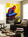 Spider-Man In the City, Crawling on Gargoyle Wall Mural