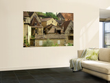 Village Houses and Roofs of Castelnaud Village Wall Mural by Barbara Van Zanten