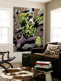 Hulk: Destruction No.1 Cover: Hulk Wall Mural by Jim Muniz
