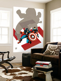 Captain America: White No.0 Cover: Captain America and Bucky Wall Mural by Tim Sale