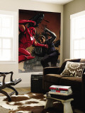 Captain America No.33 Cover: Iron Man and Winter Soldier Wall Mural by Steve Epting
