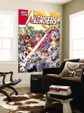 Avengers No.20 Cover: Ultron, Scarlet Witch, Wonder Man, Vision, Wasp and Avengers Wall Mural by George Perez