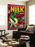 Marvel Comics Retro: The Incredible Hulk Comic Book Cover No.108, with Nick Fury (aged) Wall Mural