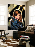 Black Widow No.2 Cover: Black Widow Charging Wall Mural by Greg Land