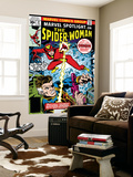 Marvel Spotlight: Spider-Woman No.32 Cover: Spider Woman and Nick Fury Fighting Wall Mural by Sal Buscema