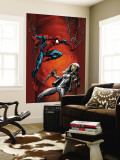 Ultimate Spider-Man No.88 Cover: Spider-Man and Silver Sable Wall Mural by Mark Bagley