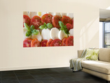 Tomatoes, Basil and Mozzarella Cheese Wall Mural by Olivier Cirendini