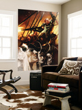 Thor God-Size Special No.1 Cover: Thor, Loki, Balder and Skurge Wall Mural