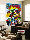 Secret Wars 1 Cover: Captain America Reproduction murale g&#233;ante par Mike Zeck
