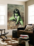 She-Hulk 3 Cover: She-Hulk Crouching Wall Mural by Adi Granov