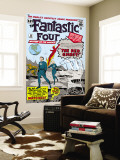 The Fantastic Four No.13 Cover: Mr. Fantastic Wall Mural by Jack Kirby