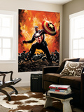 Captain America 35 Cover: Captain America Wall Mural by Butch Guice