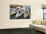Rowing Boats on Ganges River Wall Mural by Tim Makins