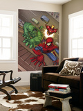 Marvel Adventures Super Heroes No.3 Cover: Spider-Man, Hulk and Iron Man Wall Mural by Roger Cruz