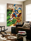 Onslaught Reborn No.5 Cover: Captain America, Hulk and Iron Man Wall Mural by Rob Liefeld