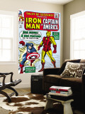 Tales Of Suspense 59 Cover: Iron Man and Captain America Charging Wall Mural by Don Heck