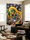 Agents of Atlas No.4 Cover: Captain America Wall Mural by Stuart Immonen