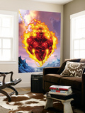 Human Torch 11 Cover: Human Torch Wall Mural by Howard Porter