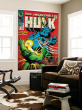 Marvel Comics Retro: The Incredible Hulk Comic Book Cover No.110, with Umbu the Unliving (aged) Wall Mural