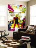 Infinity Gauntlet No.6 Group: Adam Warlock, Thanos, Thor and Hulk Fighting Wall Mural by George Perez