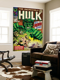 Marvel Comics Retro: The Incredible Hulk Comic Book Cover No.102, Big Premiere Issue (aged) Wall Mural