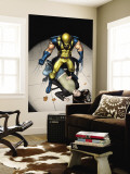 The Pulse N9 Cover: Wolverine, Jones and Jessica Wall Mural by Michael Lark