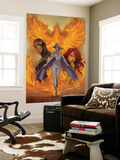 What if Astonishing X-Men 1 Cover: Emma Frost, Phoenix and Cyclops Wall Mural by J. Scott Campbell