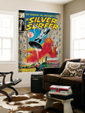 Marvel Comics Retro: Silver Surfer Comic Book Cover 8, the Ghost (aged) Wall Mural