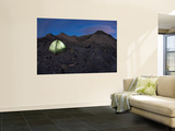 Glowing Tent at Dusk Wall Mural by Tyler Roemer