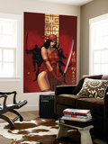 Elektra The Hand No.1 Cover: Elektra Fighting Wall Mural by Bill Sienkiewicz