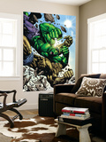 Hulk: Destruction No.4 Cover: Abomination and Hulk Wall Mural by Jim Muniz