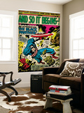 Marvel Comics Retro: Captain America Comic Panel, And So It Begins..! (aged) Wall Mural