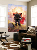 Thor No.10 Cover: Thor Jumping Wall Mural by Olivier Coipel