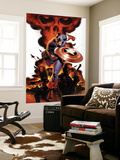 Captain America No.1 Cover: Captain America, Nick Fury and Black Widow Wall Mural by Steve Epting