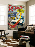 Marvel Comics Retro: Fantastic Four Family Comic Book Cover No.3, Flying (aged) Wall Mural