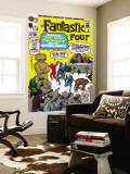 The Fantastic Four No.15 Cover: Mr. Fantastic Wall Mural by Jack Kirby