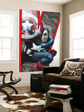 Avengers: Earths Mightiest Heroes No.2 Cover: Captain America Wall Mural by Scott Kolins