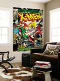 Marvel Comics Retro: The X-Men Comic Book Cover No.105, Phoenix, Colossus, Storm, Firelord (aged) Wall Mural