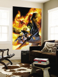 Ultimate Fantastic Four No.28 Cover: Super Skrull Wall Mural by Greg Land