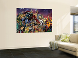 Thor No.85 Group: Thor, Hulk, Loki, Thanos, Beta-Ray Bill and Odin Fighting Wall Mural by Andrea Di Vito