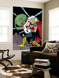 X-Statix No.25 Cover: Thor and Doop Wall Mural by Michael Allred