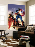Captain America And The Falcon No.3 Cover: Captain America and Falcon Wall Mural by Bart Sears