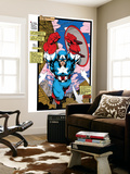 Uncanny X-Men 268 Cover: Captain America Wall Mural by Jim Lee