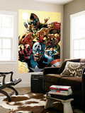 Ultimates Annual No.1 Cover: Captain America, Rocketman, Iron Man, Goliath and Ultimates Crouching Wall Mural by Bryan Hitch