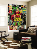 Exiles No.43 Group: Hyperion, Hulk and Spider-Man Charging Wall Mural by James Calafiore