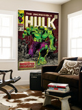 Marvel Comics Retro: The Incredible Hulk Comic Book Cover #105 (aged) Mural