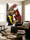 X-Men: First Class No.7 Cover: Angel and Scarlet Witch Wall Mural